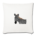 "ZEBRA Throw Pillow Cover 17.5"" x 17.5"" - natural white"