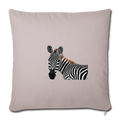 "ZEBRA Throw Pillow Cover 17.5"" x 17.5"" - light taupe"