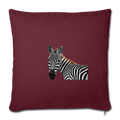 "ZEBRA Throw Pillow Cover 17.5"" x 17.5"" - burgundy"