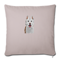 "SIBERIAN HUSKY Throw Pillow Cover 17.5"" x 17.5"" - light taupe"