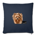 "YORKSHIRE TERRIER Throw Pillow Cover 17.5"" x 17.5"" - navy"