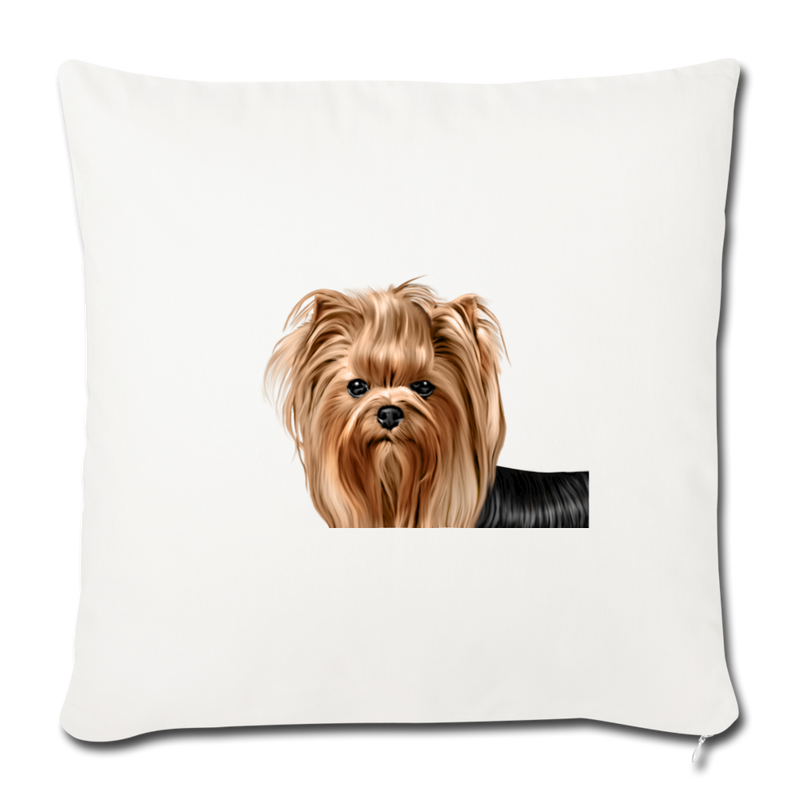 "YORKSHIRE TERRIER Throw Pillow Cover 17.5"" x 17.5"" - natural white"