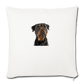 "ROTTWEILER Throw Pillow Cover 17.5"" x 17.5"" - natural white"