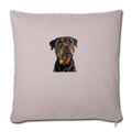 "ROTTWEILER Throw Pillow Cover 17.5"" x 17.5"" - light taupe"