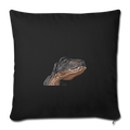 "T-REX Throw Pillow Cover 17.5"" x 17.5"" - black"