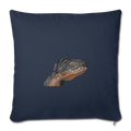 "T-REX Throw Pillow Cover 17.5"" x 17.5"" - navy"