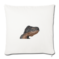 "T-REX Throw Pillow Cover 17.5"" x 17.5"" - natural white"