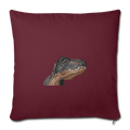 "T-REX Throw Pillow Cover 17.5"" x 17.5"" - burgundy"