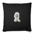 "POODLE Throw Pillow Cover 17.5"" x 17.5"" - black"