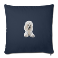 "POODLE Throw Pillow Cover 17.5"" x 17.5"" - navy"