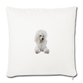 "POODLE Throw Pillow Cover 17.5"" x 17.5"" - natural white"