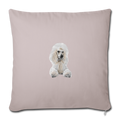 "POODLE Throw Pillow Cover 17.5"" x 17.5"" - light taupe"