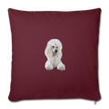 "POODLE Throw Pillow Cover 17.5"" x 17.5"" - burgundy"