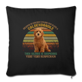 "Retro golden doodle Throw Pillow Cover 17.5"" x 17.5"" - black"