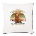 "Retro golden doodle Throw Pillow Cover 17.5"" x 17.5"" - natural white"