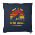 "Im really a wolf Throw Pillow Cover 17.5"" x 17.5"" - navy"