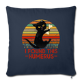 "I FOUND THIS HUMERUS Throw Pillow Cover 17.5"" x 17.5"" - navy"