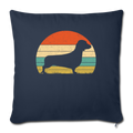 "Doxie Dachshund Dog Throw Pillow Cover 17.5"" x 17.5"" - navy"