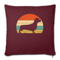 "Doxie Dachshund Dog Throw Pillow Cover 17.5"" x 17.5"" - burgundy"