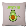 "Cinco De Mayo Cinco De_Meow Avogato Cat Avocado Throw Pillow Cover 17.5"" x 17.5"" - light taupe"