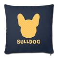 "BullDog Throw Pillow Cover 17.5"" x 17.5"" - navy"