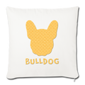 "BullDog Throw Pillow Cover 17.5"" x 17.5"" - natural white"