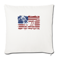 "American Flag Dachshund Dog Lover 4th of July Throw Pillow Cover 17.5"" x 17.5"" - natural white"