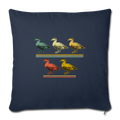 "5 LITTLE DUCKLINGS Throw Pillow Cover 17.5"" x 17.5"" - navy"