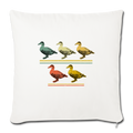 "5 LITTLE DUCKLINGS Throw Pillow Cover 17.5"" x 17.5"" - natural white"