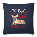 "The real love of my life Throw Pillow Cover 17.5"" x 17.5"" - navy"