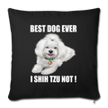 "Throw Pillow Cover 17.5"" x 17.5"" - black"