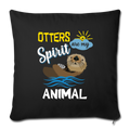 "OTTER Throw Pillow Cover 17.5"" x 17.5"" - black"