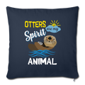 "OTTER Throw Pillow Cover 17.5"" x 17.5"" - navy"