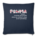 "Pawma Throw Pillow Cover 17.5"" x 17.5"" - navy"
