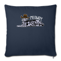 "MEOWDY Throw Pillow Cover 17.5"" x 17.5"" - navy"