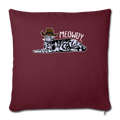 "MEOWDY Throw Pillow Cover 17.5"" x 17.5"" - burgundy"