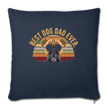 "Mens Vintage Best Dog Dad Ever Boxer Dog Throw Pillow Cover 17.5"" x 17.5"" - navy"