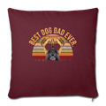"Mens Vintage Best Dog Dad Ever Boxer Dog Throw Pillow Cover 17.5"" x 17.5"" - burgundy"