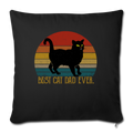 "Best Cat Dad Ever Vintage Black Cat Throw Pillow Cover 17.5"" x 17.5"" - black"