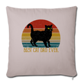 "Best Cat Dad Ever Vintage Black Cat Throw Pillow Cover 17.5"" x 17.5"" - light taupe"
