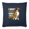 "Boxer dog Funny T-shirt for Dog Mom Throw Pillow Cover 17.5"" x 17.5"" - navy"