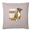 "Boxer dog Funny T-shirt for Dog Mom Throw Pillow Cover 17.5"" x 17.5"" - light taupe"