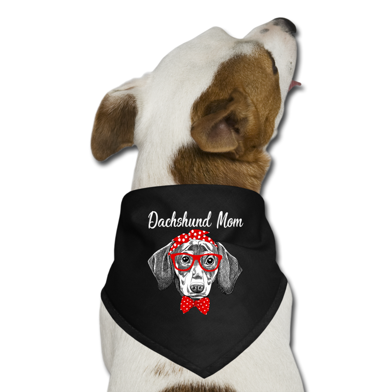 Dachshund_Mom Dog Bandana - black