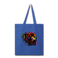 Hand Painted Rotweiler Tote Bag - royal blue