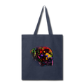 Hand Painted Rotweiler Tote Bag - navy