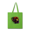 Hand Painted Rotweiler Tote Bag - lime green
