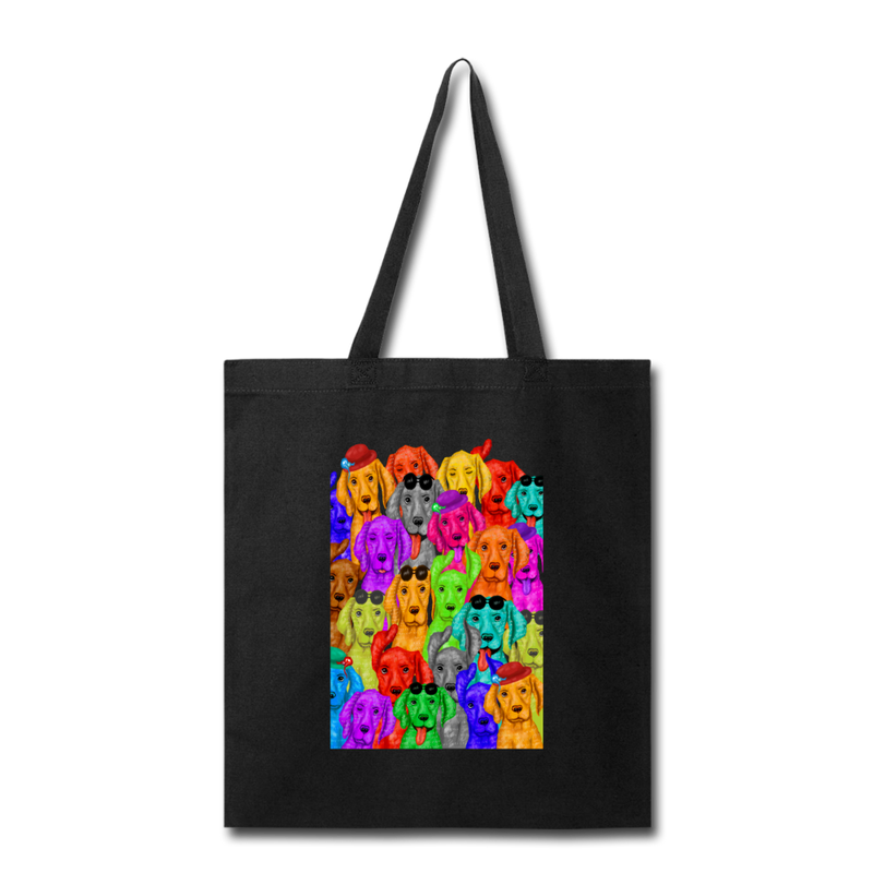 Hand painted vizsla_Tote Bag - black