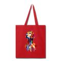 Hand painted vizsla Tote Bag - red