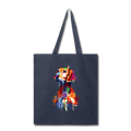 Hand painted vizsla Tote Bag - navy