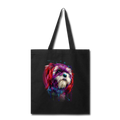 hand painted Shih_Tzu Tote Bag - black